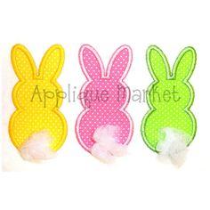 Máquina del bordado diseño Applique Easter Bunny trío instantánea descargar
