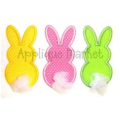 Machine Embroidery Design Applique Easter Bunny Trio by tmmdesigns, $4.00