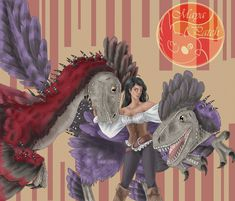 [Ark] Giselle and her Deinonychus by MayaPatch on DeviantArt Consciousness Quotes, Higher Consciousness, Prehistoric Creatures, Mythical Creatures, Jurassic World, Jurassic Park, Evolve Wallpapers, Dinosaur Games, Animal Sketches