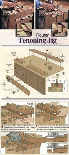 Router Tenon Jig Plans - Joinery Tips, Jigs and Techniques | WoodArchivist.com | WoodArchivist.com