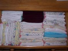 How to make prefolds from receiving blankets - the proper way with folding!