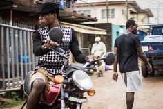 A biker in Nigeria