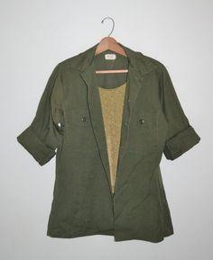 Vintage Green Military Shirt OG 507 Utility by founditinatlanta, $45.00