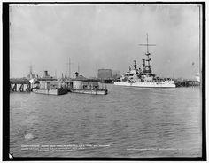 League Island Navy Yard, U.S.S. Iowa and monitors, Philadelphia | Library of Congress