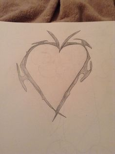 Have a broken heart easy to draw