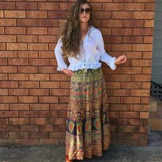 Summer Breaking 70's Maxi Wrap Skirt by ChameleonCollection
