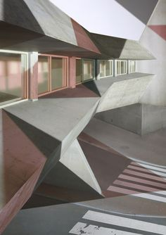Christine Erhard's Fragmented Architectural Photographs Create New Linear Perspectives - IGNANT Perspective, Journal Du Design, Construction, Le Corbusier, Everyday Objects, Three Dimensional, Architecture Design, Stairs, Fine Art