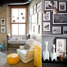 Transitional Nursery Ideas - a little obsessed with gray and yellow