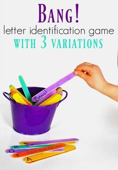 BANG!�the Letter Identification Game and Its 3 Variations Learning Games For Preschoolers, Fun Learning Games, Alphabet Activities, Kids Learning, Ela Games, Alphabet Books, Phonics Games, Jolly Phonics, Alphabet Crafts