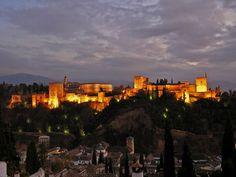 The Alhambra, Granada, Spain @ Dusk