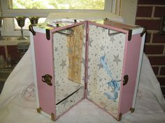 Pink Metal Doll Trunk