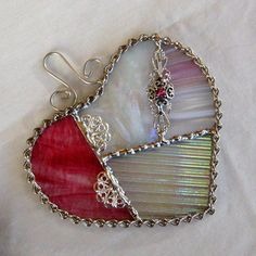 Stained Glass Heart Small Patchwork Heart Stained by GlassCat, $20.00