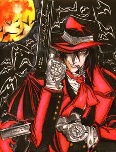 Hellsing: Nosferatu AlucarD by CupidYamiVolta on DeviantArt - Hellsing Ultimate: The most amazing anime that ever existed. I Love Anime, Anime Guys, Manga Art, Anime Art, Hellsing Alucard, Alucard Castlevania, Anime Fantasy, Animes Wallpapers, Dracula