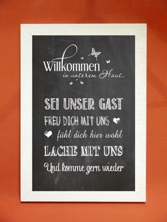 """Kunstdruck """"Willkommen in unserem Haus"""""""