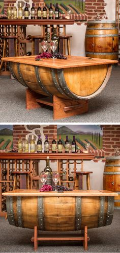 Wine barrel coffee table #furniture_design