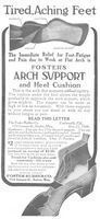 Foster's Arch Support 1909 Ad Picture