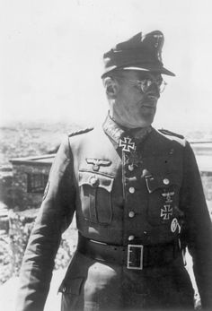 Ferdinand Schörner (1892-1973) was a General and later Field Marshal (Generalfeldmarschall) in the German Army (Wehrmacht Heer) during World War II. Schörner was a convinced Nazi and became infamous for his brutality. By the end of World War II he was Hitler's favourite commander. He was also the last of Hitler's field marshals to die.