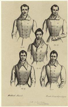 [Men standing showing upper part of clothing, France, 1834.] Men -- Clothing & dress -- France -- 1830-1839