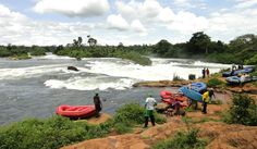 To the east of #Uganda, the town of #Jinja famously marks the point where the Victoria Nile leaves Lake Victoria ... a famous location for white-water rafting.