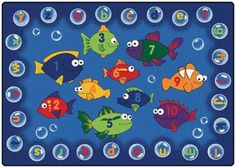 """fishing for literacy"" rug. cute"