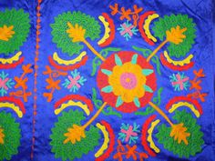 INDIAN WALL HANGING HAND EMBROIDERY VELVET TAPESTRY PATCHWORK TABLE THROW AX9 #Handmade #ArtDecoStyle