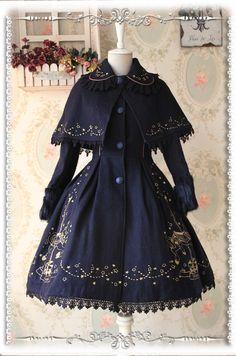 Taillé sur mesure Infanta revers en fausse fourrure à manches longues Fit et Flare brodé laine Lolita manteau avec Cape pour fille trois couleurs dans Vestes de base de Femmes de Vêtements et Accessoires sur AliExpress.com | Alibaba Group