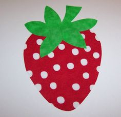Fabric Applique TEMPLATE ONLY Jumbo Strawberry by etsykim on Etsy,