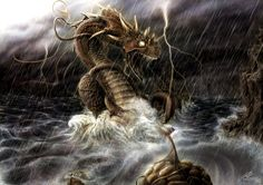 Joermungandr (the Midgard Serpent) by RandomMumble on deviantART