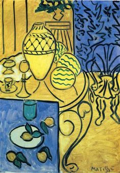 Interior in Yellow - Matisse Henri