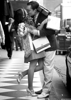 Chuck and Blair Gossip Girl. Such a cute shot.