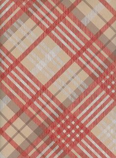 Tartan Wallpaper  Vivienne Westwood designed tartan wallpaper in beige, grey and red
