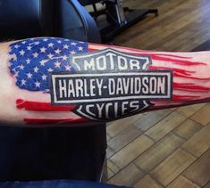 Guys Forearm Sleeve Harley Davidson Bar And Shield Tattoos Harley Tattoos, Harley Davidson Tattoos, Harley Davidson Helmets, Harley Davidson Gifts, Biker Tattoos, Harley Davidson Sportster, Vintage Harley Davidson, Motorcycle Tattoos, Tribal Tattoos