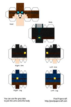 TheDiamondMinecart skin papercraft