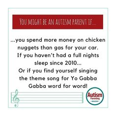 You might be an autism parent if... Get a FREE issue of Autism Parenting Magazine Just follow us on Instagram: @autismparentingmagazine Link on our profile