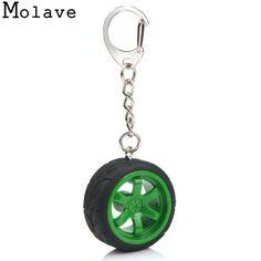 2017 New Fashion Design Popular Creative Car Auto Metal Mini Wheel Rim Tyre Key Chain Bag Keyring Key Fob Mini Key Chain Jan13 #Affiliate