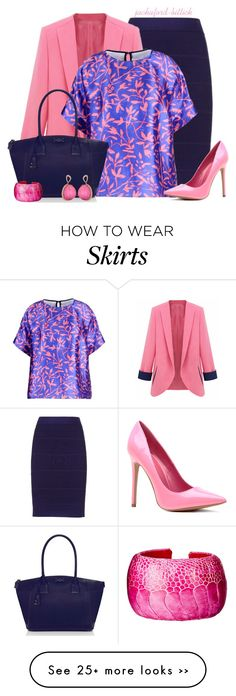 """Skirt and Blazer Contest 1"" by jackaford-bittick on Polyvore featuring BCBGMAXAZRIA, Peter Pilotto, Kate Spade and Nest"