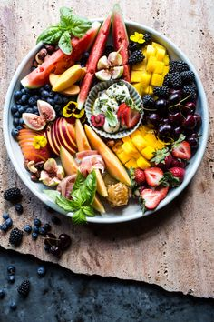 Summer Fruit Plate - a delicious guide to what I love to put together on my fruit plates. From halfbakedharvest.com