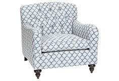 OKL Exclusive Toulouse Chair, Indigo on OneKingsLane.com