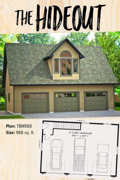 48 Best Garage Plans Images 3 Car Garage Dream Garage Garage Plans