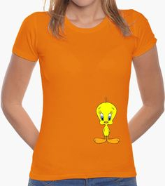 T-shirt Donna, manica corta, arancione, qualità premium