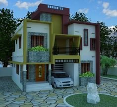 Most preferred #Contemporarymodelplans. Meet our designer today #Contemporarymodelhomeplans #ContemporarymodelDesigninCochin http://www.kmhp.in/…/contemporarymodelhouse-plansjai-const…/