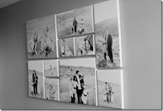 Canvas photo gallery wall