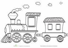 Preschool Coloring Worksheets: Toy Train Coloring Page Train Coloring Pages, Colouring Pages, Coloring Sheets, Coloring Books, Coloring Worksheets, Kids Coloring, Preschool Worksheets, Train Clipart, Train Drawing