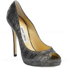 Jimmy Choo Quiet Lizard Embossed Patent Leather Pumps