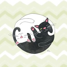 Cat Philosophy Art Print by Emily Andrus Lopuch | Society6