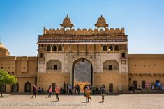 Amer Fort 009: Beautiful architecture and is also known as Surajpol. Amer Fort, Main Gate, Rajasthan India, Beautiful Architecture, Louvre, Goa India