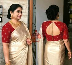 Back neck designs for Blouse - The handmade craft Wedding Saree Blouse Designs, Pattu Saree Blouse Designs, Blouse Designs Silk, Designer Blouse Patterns, Saree For Wedding, Pattern Blouses For Sarees, Latest Blouse Designs, Golden Blouse Designs, Designer Saree Blouses