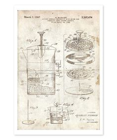 Another great find on #zulily! Coffee Brewing Apparatus 1967 Parchment Art Print #zulilyfinds