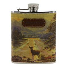 Ted Baker Stag Hip Flask in Multi Mens Designer Accessories, Home Accessories, Ted Baker Gifts, Gift Box For Men, Wild Wolf, New Home Gifts, Bar Set, Fashion Essentials, Valentine Gifts