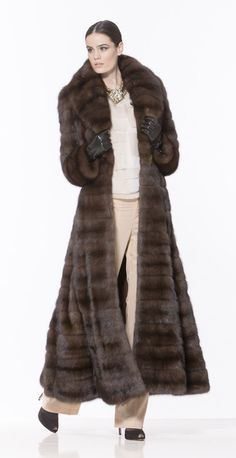 Braschi Russian Barguzin Sable Fur Coat
